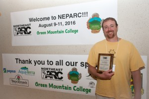 NEPARC Award Winner 2016 is Mike Marchand of New Hampshire Fish and Game